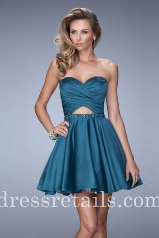 Hunter green strapless sweetheart cocktail dresses La Femme 22098 [La Femme 22098] - $165.00 : Prom Dresses | Dresses From dressretails.com | Dresses for girls | Scoop.it