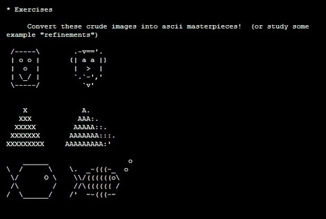 [ The Sunny Spot ] ASCII-Art - Tips by Sean Gugler | ASCII Art | Scoop.it