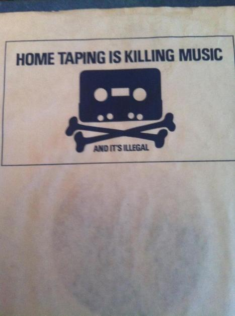 Just found this on an old vinyl. Times change so fast. - Imgur | creative title | Scoop.it
