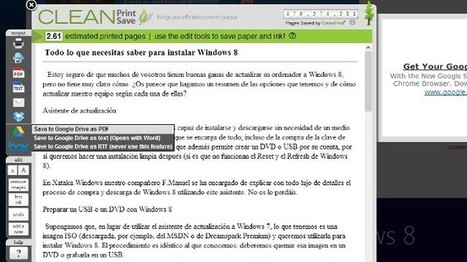 Guarda páginas web en Drive, Box o Dropbox desde Chrome con CleanSave | De interés educativo | Scoop.it