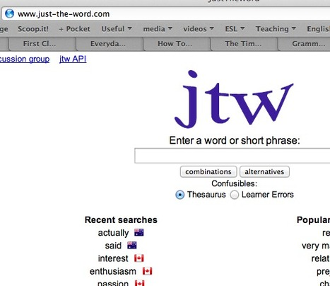 JustTheWord | Online ESL resources | Scoop.it