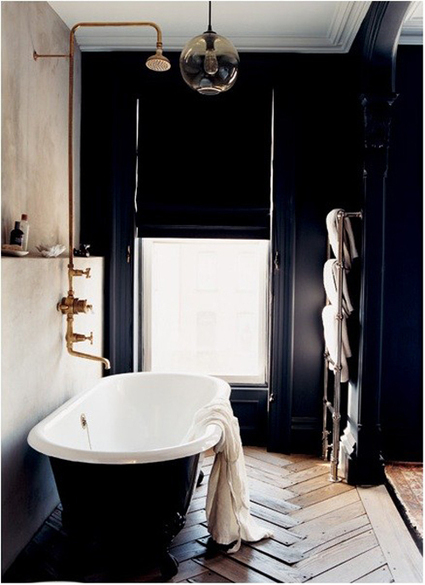 black bathrooms | the style files | Design for Fun | Scoop.it