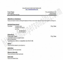 Free Customizable Blank Resume Template in Word for Fresh Graduates or High School | Free Printables Templates to Download | Scoop.it