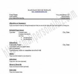 resume format blank form  blank resume templates   samples    fill