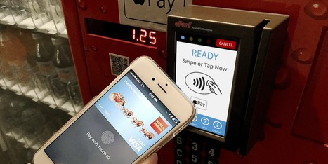 Study: Apple Pay branding on vending machines increases mobile payment usage 135%, overall sales by 36%   iPhone Marketing   Scoop.it