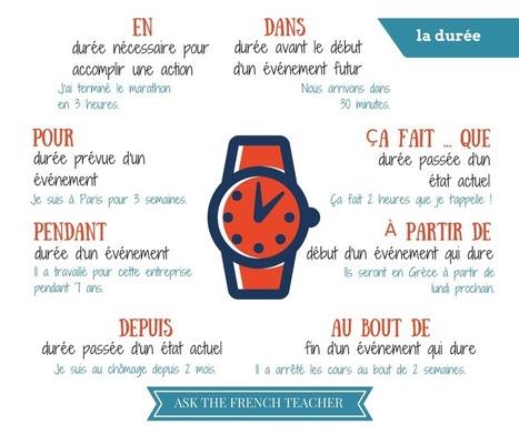 Exprimer la durée | Apprendre le français Bachillerato | Scoop.it