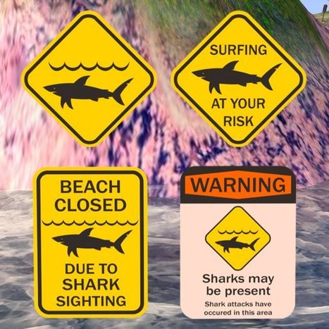 Free Shark Sign Collection by Photon Pink | Teleport Hub - Second Life Freebies | Second Life Freebies | Scoop.it