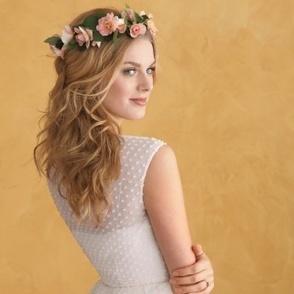 Floral Wedding Hairstyles - Martha Stewart Weddings Fashion & Beauty | Destination Wedding Hairstyles | Scoop.it