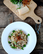 Dried-Porcini-Mushroom Risotto with Goat Cheese Recipe - Quick From Scratch Italian | Food & Wine | À Catanada na Cozinha Magazine | Scoop.it