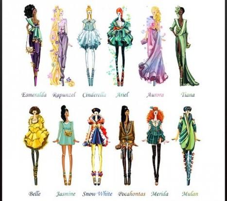 Disney Inspired Fashion Design Sketches | timms brand design | Scoop.it