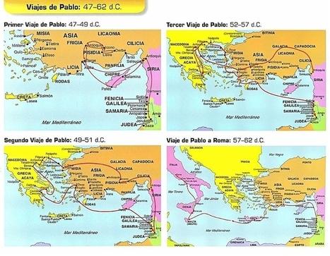 Viajes de Pablo: 47 - 62 d. C. | Pablo de Tarso | Scoop.it