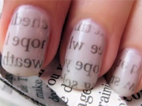 Newspaper nails design easy tutorial | Style Den | Scoop.it