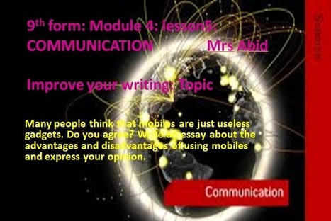 Improve your writing topic: communication - New Spotlight on English | learning english online | Scoop.it