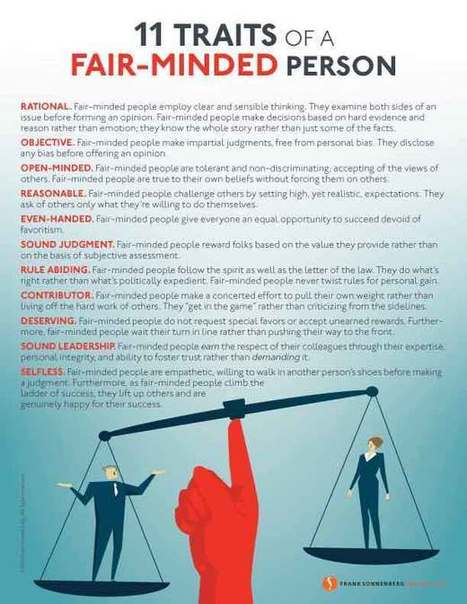 11 Traits of a Fair-Minded Person | Surviving Leadership Chaos | Scoop.it