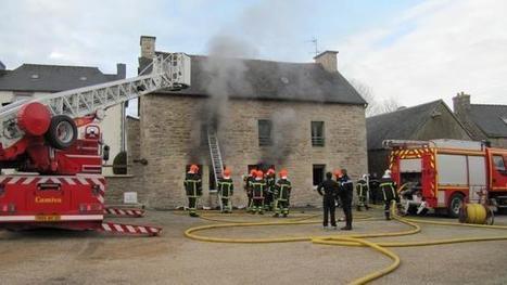 Incendie à Lanrivain : Une maison communale ravagée par le feu. Info - Guingamp.maville.com | Ma Bretagne | Scoop.it