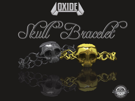 OXIDE Skull Bracelet - The Nightmare 2016 Hunt Gift | 亗 Second Life Freebies Addiction & More 亗 | Scoop.it
