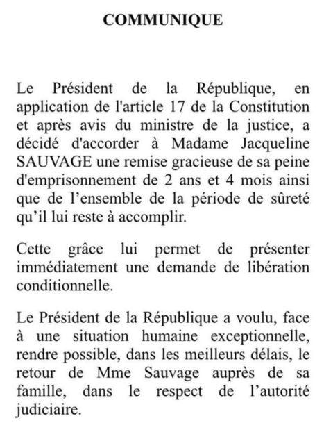 François Hollande accorde la grâce présidentielle à Jacqueline Sauvage | PHMC Press | Scoop.it