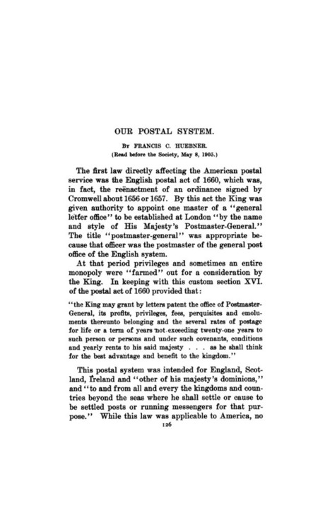 JSTOR: Records of the Columbia Historical Society, Washington, D.C., Vol. 9 (1906), pp. 126-174 | United States Postal Service (SMG) | Scoop.it