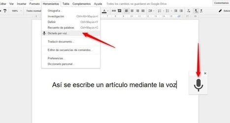 Cómo usar la voz para escribir en un Documento de Google | IncluTICs | Scoop.it