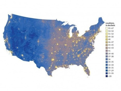 Map of the United States' quietest and noisiest places   audio branding   Scoop.it