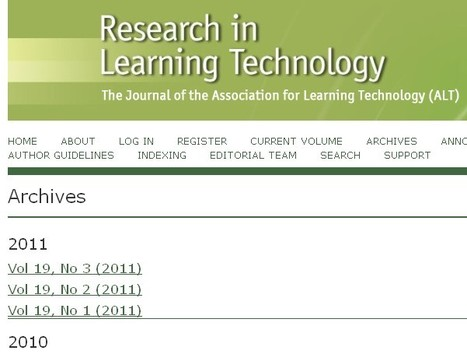 Archives of Research in Learning Technology now open content | Inclusive teaching and learning | Scoop.it
