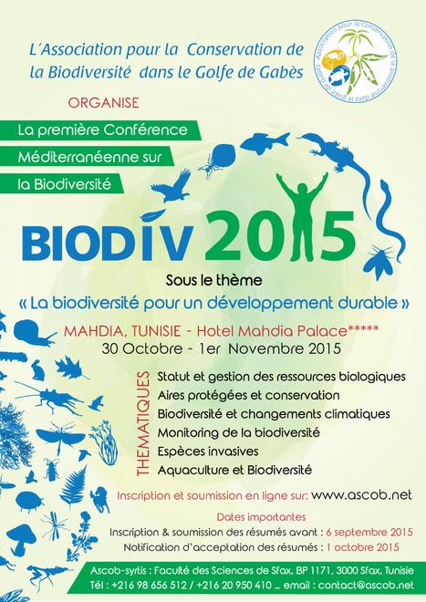 BIODIV 2015 (30 octobre-1er novembre) | Institut Pasteur de Tunis-معهد باستور تونس | Scoop.it