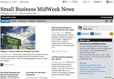 """June 13 - """"Small Business MidWeek News"""" 