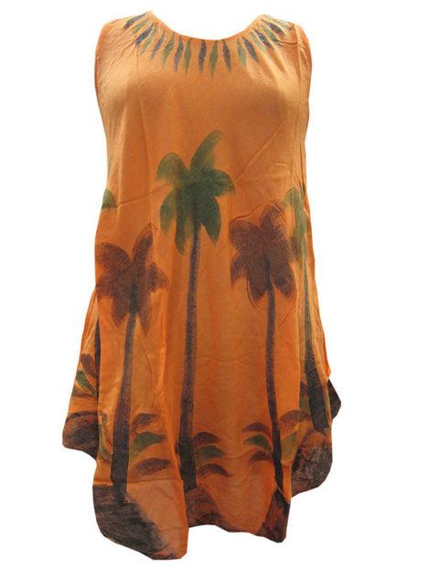 Orange Palm Tree Printed Tank Dress Caftan Mid Length Dresses | Bohemian Fashion | Scoop.it