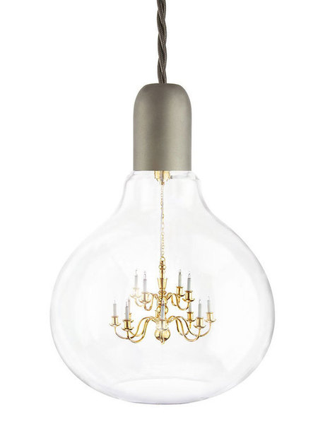 Lamp bulb contains a tiny chandelier | Lighting | Home | acme.dek | Scoop.it