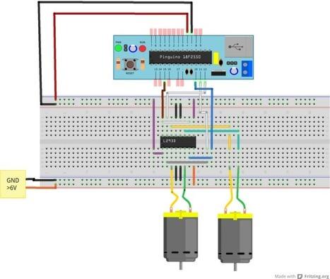 Motores de CC controlador por Pinguino | tecno4 | Scoop.it