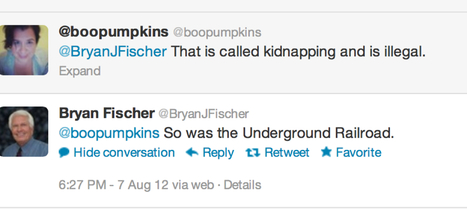 Bryan Fischer continues to suggest kidnapping gay people's kids; any of you 'values' folks care to say something?!   Daily Crew   Scoop.it