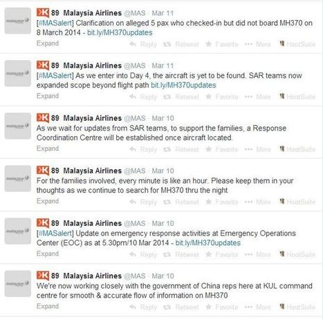 Crisis Management Lesson From Malaysia Airlines | 12Mass Blog | Social Media Management | Scoop.it