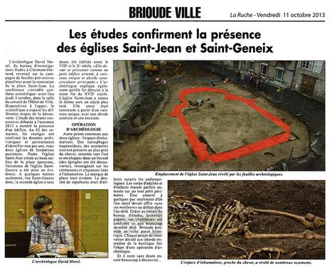 Brioude (43) : deux églises médiévales redécouvertes | HADES - Archéologie | Scoop.it