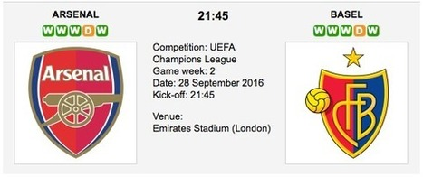 Arsenal vs. Basel - Champions League Preview 2016 | ukbettips.co.uk | Scoop.it