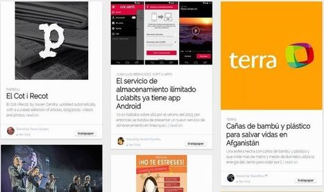Instacurate: convierte la timeline de Twitter en un magazine | Squeezing Twitter | Scoop.it