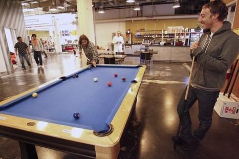 ¿Juego + trabajo = creatividad ? Imágenes de las oficinas de 2 gigantes -All work, but all play, too - | Maestr@s y redes de aprendizajes | Scoop.it