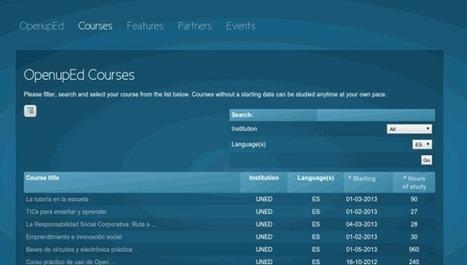 Los primeros cursos MOOC de OpenupEd en español | Las TIC y la Educación | Scoop.it