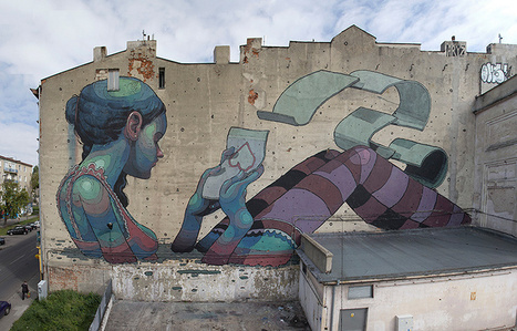 Gargantuan Street Murals by Aryz | Colossal | Miss Mandy's Online Finds | Scoop.it