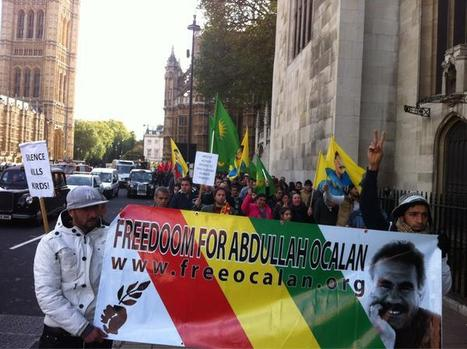 London: Hundreds protest in solidarity with Kurdish hunger strikers | Papuan News | Scoop.it