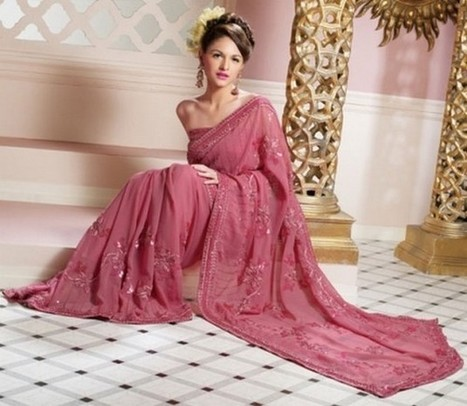 Georgette Sarees Designs | FemalesPk.Com | Fashion and Beauty | Scoop.it