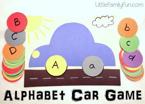 Little Family Fun: Alphabet Car Game | Learn through Play - pre-K | Scoop.it