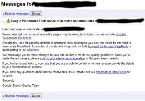 Does Google think your links are unnatural? | SEO Tips, Advice, Help | Scoop.it