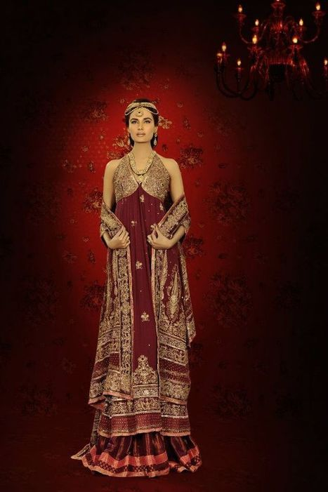 Fashion Week Collection: wedding bridal sarees, | hamzamughal | Scoop.it