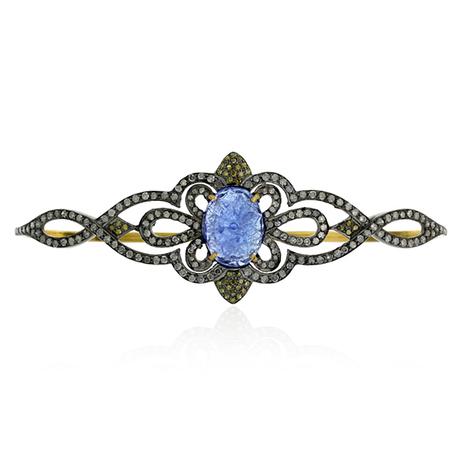 Tanzanite Carved Diamond Palm Bracelet | Gemstone Jewelry | GemcoDesigns | Pave Diamond Bracelets | Diamond Jewelry | GemcoDesigns | Scoop.it