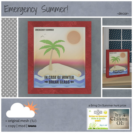 by Chiana Oh - Emergency Summer -Decor- | 亗 Second Life Freebies Addiction & More 亗 | Scoop.it