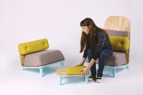 Chair for comfort / Low Chairs Family by Jovana Bogdanovic | Zeutch | Du mobilier, ou le cahier des tendances détonantes | Scoop.it