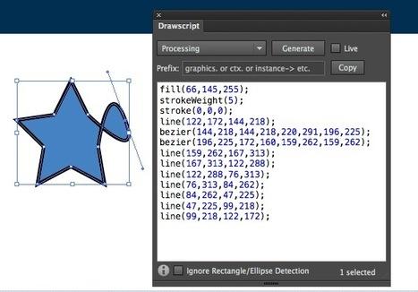 Drawscript - convert Illustrator shapes into code by  Tom Krcha | BTS CVM Bréquigny | Scoop.it