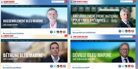 Les copier-coller des sites du FN pour les municipales | Web en politique | Scoop.it