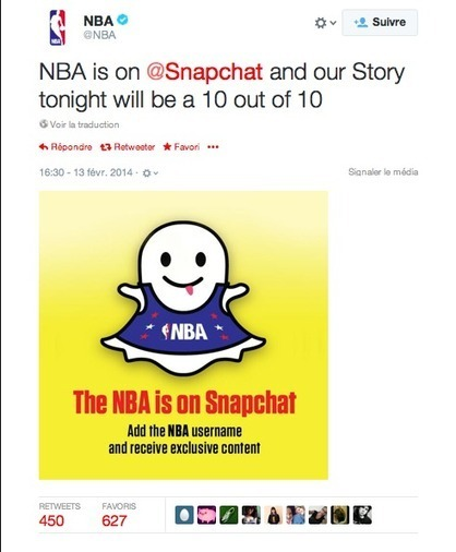"Snapchat et Sport - SportBusinessetMoi | L'information Quotidienne ""Sport & Digital"" 