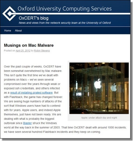 Oxford Muses on Mac Flashback: Worst Outbreak Since Blaster | Apple, Mac, iOS4, iPad, iPhone and (in)security... | Scoop.it